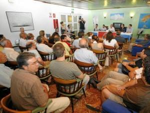 Imagen de la última asamblea del Eivissa celebrada el 23 de junio. VICENT MARÍ