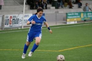 Blanca Figueroa durante un partido con el Oviedo Moderno.