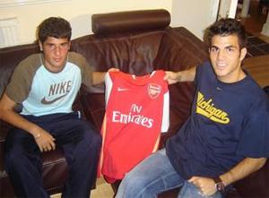 Cesc Con la camiseta del Arsenal