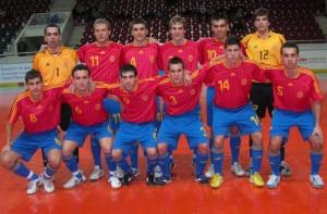 Una formación del equipo nacional absoluto. D.I.