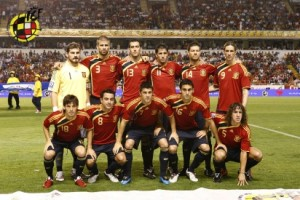 España golea a Belgica