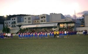 Presentación de los equipos del Ferreries. Foto Damiá Pons