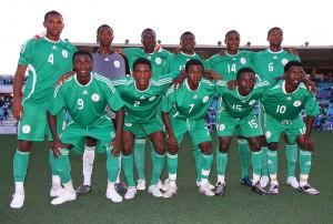 Selección de Nigeria, que se enfrento al At. Baleares