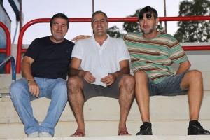 Soler, Molondro y Milojevic en el municipal de Sa Pobla anoche. Pulsar sobre la imagen para ampliarla.