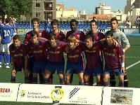 Plantilla del juvenil A del FC. Barcelona que jugó en Portugalete