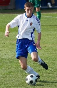 Kevin Lacruz debutó con el primer equipo del Real Zaragoza en liga