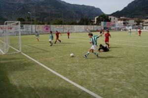 Momento de un partido del Fútbol base del Sollerense