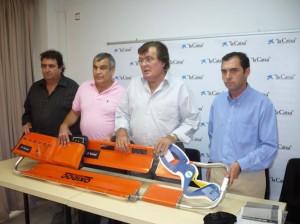 Torres, Roselló, Bestard y Bertomeu, ayer en los locales de la junta insular de fútbol. S.C.