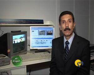 Luis Rodriguez en el programa Nit D'Esport de TV. Manacor