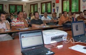 Momento de la presentación de la intranet a los clubes.