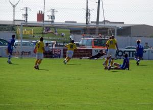 La Publicidad de Fútbol Balear luce en Bintaufa. Foto Nousetum