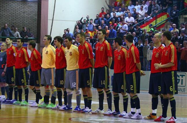 El rival ser grecia f tbol sala for Federacion espanola de futbol sala