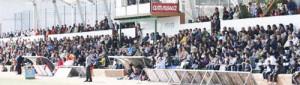 Aspecto del graderío en el partido que la Peña jugó frente al Alzira la temporada pasada en 2ª B.