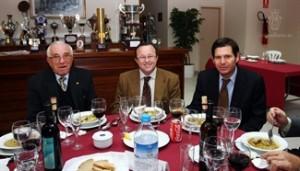 Joan Forteza, Tomeu Vidal y Mateu Alemany durante la comida