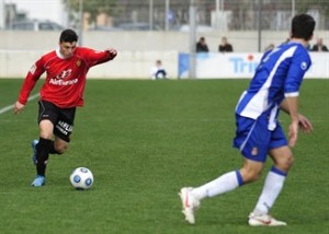 Ximo Navarro en el Espanyol 1-2 Mallorca B