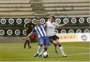 Sergi Darder con el Juv. del Español frente al Valencia