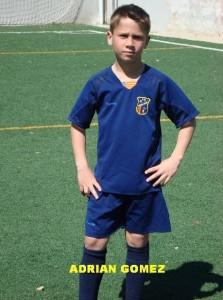 Adrian Gómez jugador destacado del partido