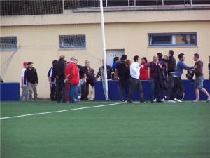 Incidentes después del partido en Son Malferit