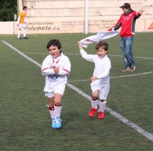 Jugadores Alaró Prebenjamín. Foto Archivo