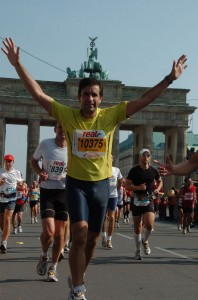 Salvador Fornes en la maratón de Berlín