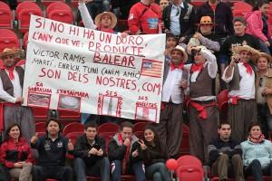 "Pancarta de ""Producte Balear"" Foto T. Moya"