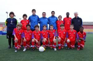 Toni Barea con la Selección Sub-12