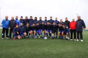 La Selección UEFA en el entreno de ayer en Son Malferit