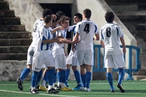 El Baleares celebra uno de los goles