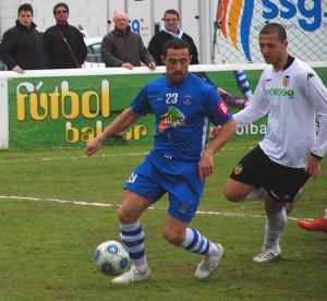 Ismael Lopez en el partido frente al Valencia