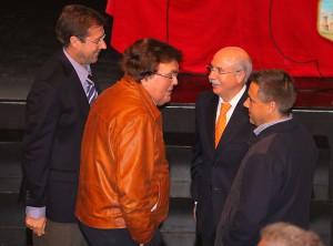 Miguel Bestard junto a Llorenç Serra Ferrer y Pep Alomar, que repetiran en esta edición