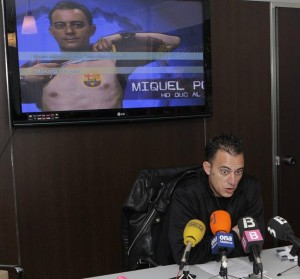 Miquel Pou, ayer durante la presentación de su candidatura.  Foto: Miquel Massuti