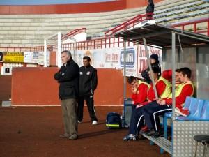 Mulió y Alba en su último partido con el Ibiza frente al Serverense. Foto Ibiza24horas.com