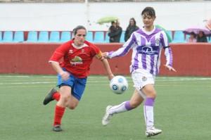 Pili marcó cuatro goles ante el Real Valladolid