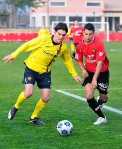Truyols con el Mallorca B frente al Barça B