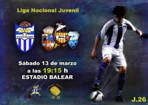 Cartel del partido At. Baleares - Juv. Sallista